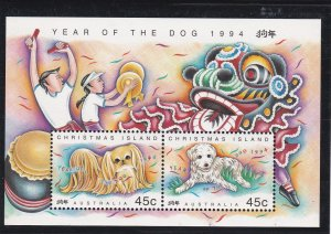 Christmas Island #  350b, New Year - Year of the Dog, NH, 1/2 Cat.