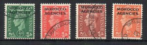 Morocco Agencies 1949 GB opt values to 2d FU CDS