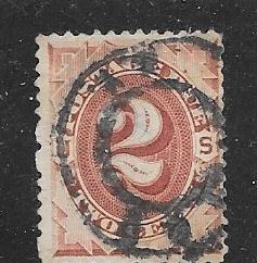 US#J2  2c Postage Due -brown  (U) CV $25.00