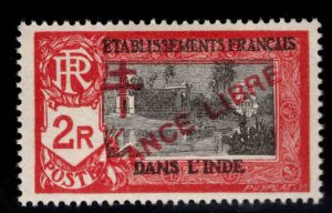 FRENCH INDIA  Scott 173 MH* France Libre  overprint