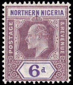Northern Nigeria - Scott 15 - Mint-Hinged - Damaged Perforation Tooth