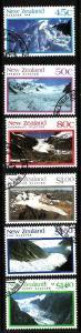 New Zealand-Sc#1104-9-used set-Glaciers-1992-