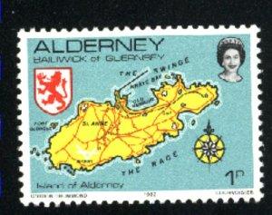 Alderney #1   Mint NH VF 1983 PD