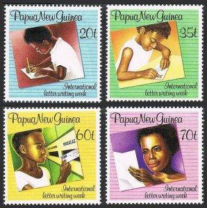Papua New Guinea MNH 707-10 Letter Writing 1989
