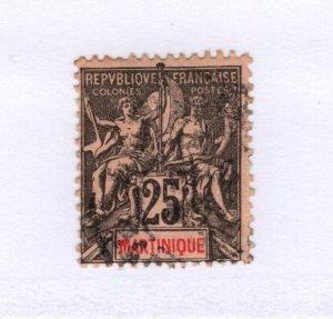 Martinique #43 Used - Stamp - CAT VALUE $3.25