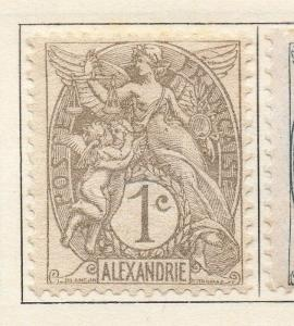 Alexandria 1902-13 Early Issue Fine Mint Hinged 1c. 054459