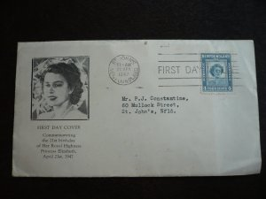 Newfoundland - First Day Cover - Birthday Issue