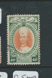 MALAYA KELANTAN (PP2607B) SULTAN  40C  SG  50  VFU