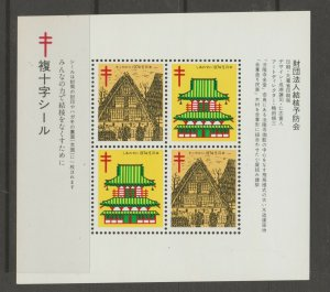 Japan Cinderella seal TB Charity revenue stamp 5-03-19 mint