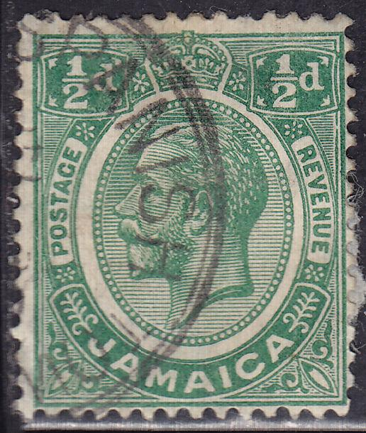 Jamaica 101 USED 1921 King George V ½d