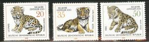 German DDR  Scott 1911-3 Leipzig Zoo stamps 1978 MNH**