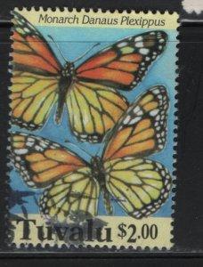 TUVALU, 657, USED, 1994, BUTTERFLIES, FROM SOUVENIR SHEET