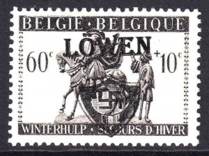 BELGIUM B335 WW2 LÖWEN OVERPRINT OG NH U/M F/VF BEAUTIFUL GUM