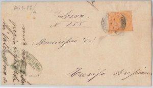 53866 - ITALIA REGNO - Storia Postale:  BUSTA da MONTECHIARO sul CHIESE 1877