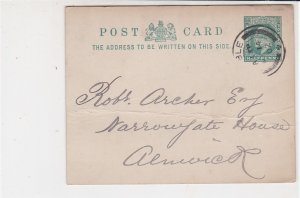 England 1902 Amble Cancel Re Payment Stamp Card to Alnwick Ref 34849