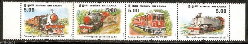 Sri Lanka 2011 Viceroy Special Locomotive Train 4v MNH # 6088