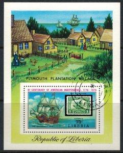 Liberia #C207  CV $3.50  U.S. Bicentennial Souvenir sheet