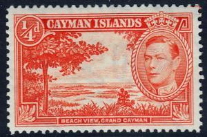 Cayman Islands KGVI 1/4d Red-Orange SG115 Mint Never Hinged MNH UMM