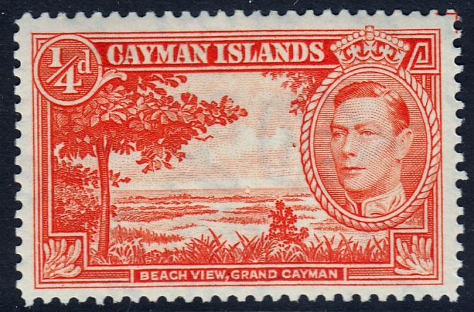 Cayman Islands KGVI 1/4d Red-Orange SG115 Mint Never Hinged MNH UMM