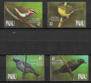 Palau MNH 231-4 Birds Of The Forest