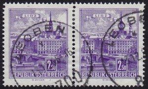 Austria - 1962 - Scott #698 - used pair - Linz