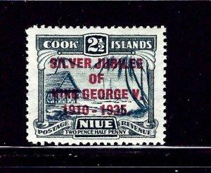 Niue 68 MH 1935 KGV Silver Jubilee        (RR)