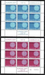 Yugoslavia. 1970. Small sheet 1379-80. Europe-sept, mail. MVLH.