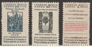 MEXICO #C97-9 MINT NEVER HINGED COMPLETE