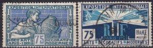 France  #224-5 F-VF Used  CV $8.75 (Z2441)