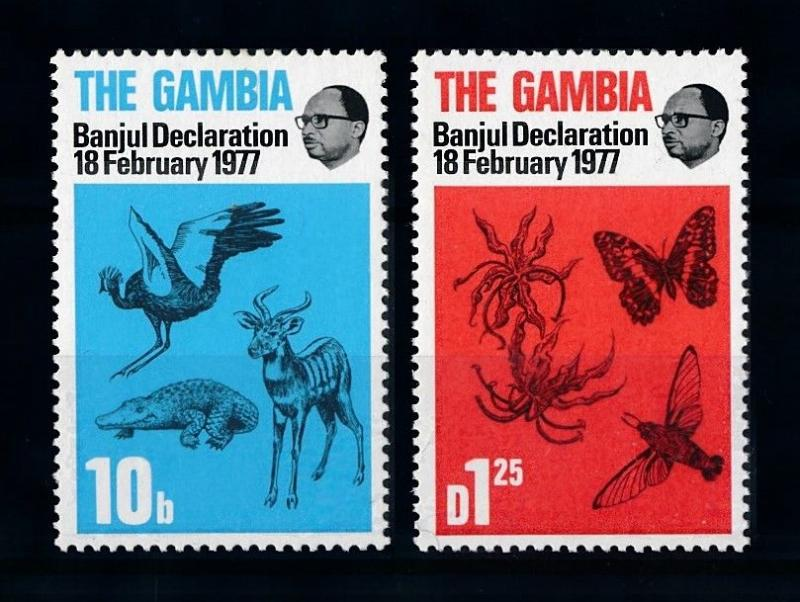 [70694] Gambia 1977 Insects Butterfly Bird From set MNH