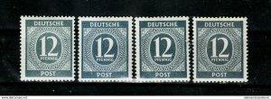 Germany Kontrollrat 920 abcd mnh