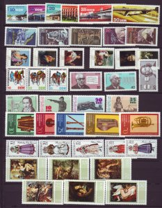 J22674 Jlstamps 1976-7 germany  ddr 9 dif sets mnh #1757//1827 designs