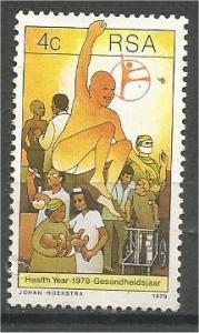 SOUTH AFRICA, 1979, used 4c, Health Year. Scott 522
