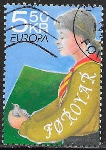 Faroe Islands 485 Used - ‭‭Europa - 100 Years of Scouting