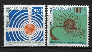 Gabon 1963 Space Communications Sc 167-168 MNH A1610