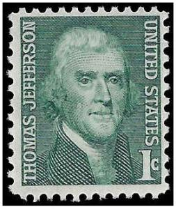 #1278 1c Prominent Americans Thomas Jefferson 1968 Mint NH