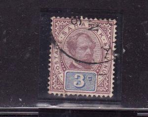 Sarawak-Sc#10-used-3c lilac & blue-1888-97-