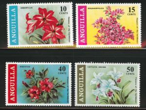 Anguilla MNH 70-3 Flowers Of The Caribbean 1969