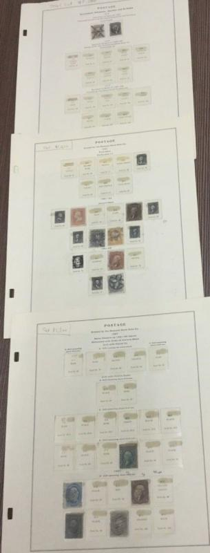 MOMEN: US Classic Collection inc #1-2 Cat$8,700 on (3) Album Pages #9086