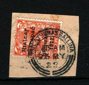 IRELAND 1922 Free State Overprints EIRE *Pullathomas Ballina* CDS Mayo MS2261