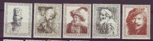 J25548 JLstamps 1956 netherlands mnh set #b291-5  art