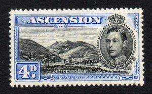 Ascension 1938 KGVI 4d perf 13½ SG 42c mint
