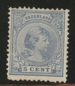Netherlands Scott 41 MH* 1894 issue margin tear at right.