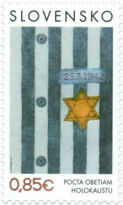 SLOVAKIA / 2017, Tribute to victims of the Holocaust, MNH