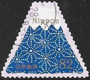 Japan 4003a Used - Traditional Japanese Designs - Dark Blue Mt. Fuji