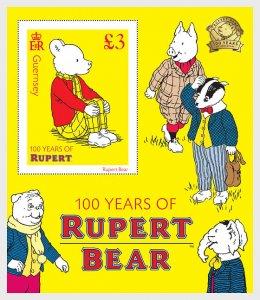 2020 Guernsey Rupert Bear SS (Scott NA) MNH