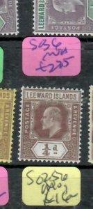 LEEWARD ISLANDS (P2308BB) KE  1/4 D  SG 36       MNH