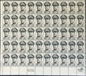 General Douglas MacArthur Sheet of Fifty 8 Cent Postage Stamps Scott 1424