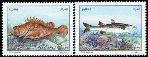 Algeria #1670-71  MNH - Scorpion Fish, Mullet (2016)