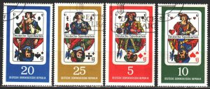 GDR. 1967. 1298-1301. Playing cards. USED.